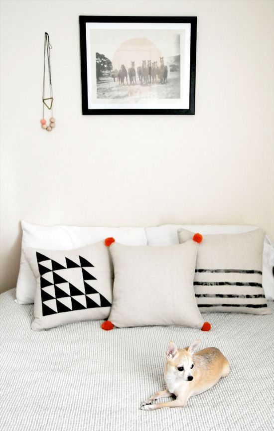 DIY Home Craft Stenciled Pillows