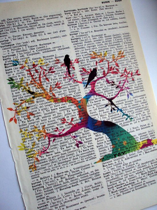 Vintage Dictionary Book Art - Tree of Life