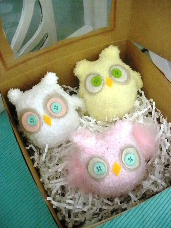 stuffed owl favors