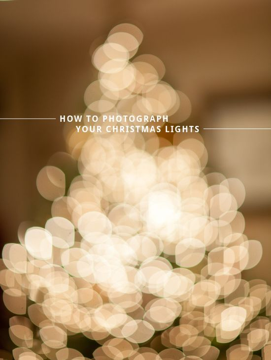 how to photograph your christmas tree lights