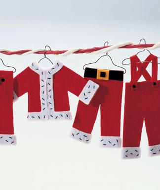 Santa's Wardrobe Ornaments: Tutorial on Site