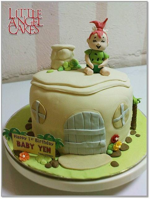Pebbles Flintstones Birthday Cake