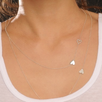 {sterling silver +  pavé diamond Heart Wrap Necklace} Alexa Leigh