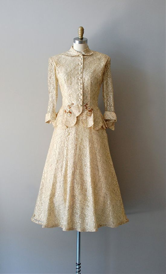 1950's Wedding Suit. Lovely!