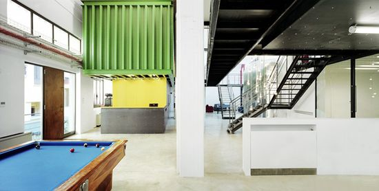 Cargo containers in office design