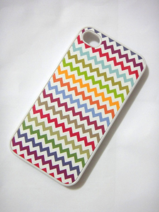 Chevron iphone case - fits for iPhone 4 case,  iPhone 4S case - handmade iphone case. $14.99, via Etsy.
