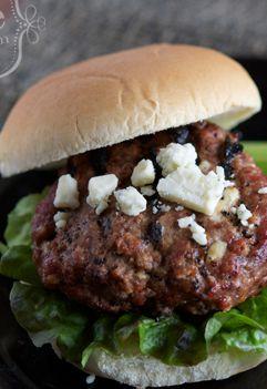 Buffalo Bleu Cheese Burgers #grilling #freezercooking #oamc