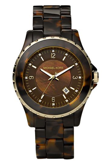 Michael Kors 'Jet Set' Crystal Index Watch