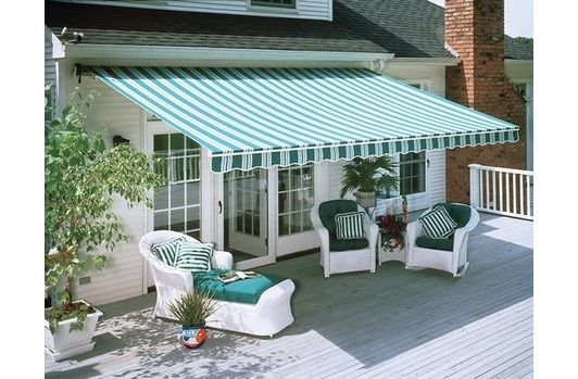 patio design idea with awning - Home and Garden Design Ideas