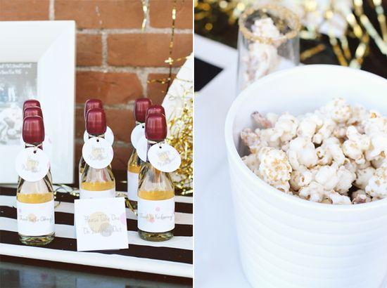 party favors: mini champagne