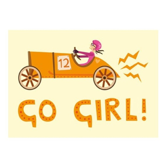 Go Girl Greetings Card for Fast Women by GhostGoose on Etsy, £1.75