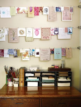 i love the idea of decorting like this over a desk, it can be very inspirational for writing or any other things that happen at a desk love this idea.