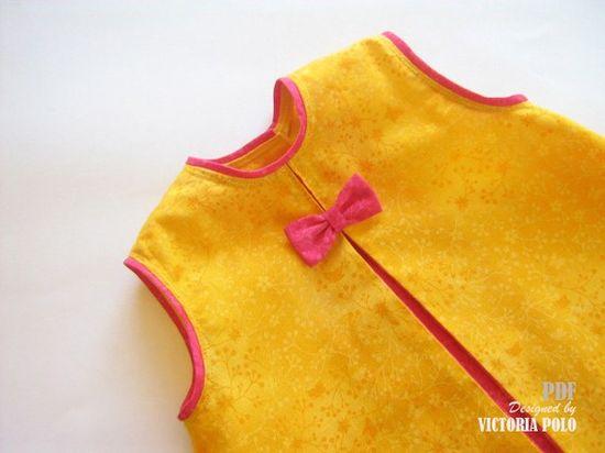 Baby dress tutorial (PDF). Sewing Patterns. Size 3-6, 6-9, 9-12 months. www.patronesvp.bi...