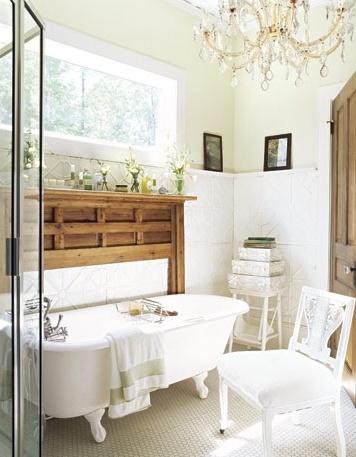 Chandelier in Bathroom...Yes, Please!