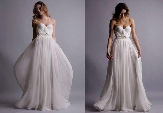 gorgeous empire waist  wedding dress