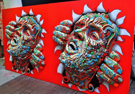 3D art display by Shaka in Marseilles, France