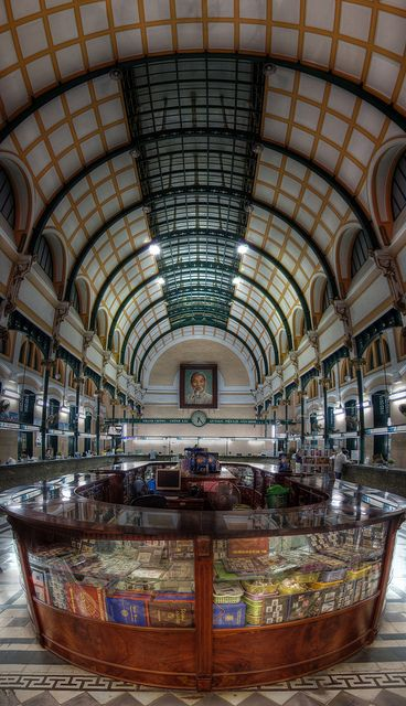 saigon old post office vertorama by mariusz kluzniak, via Flickr