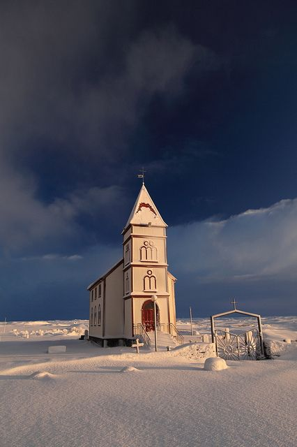 Isolated Church in Iceland