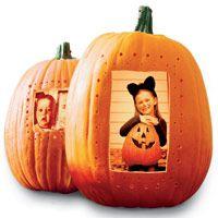 Halloween Pumpkin Photo Frame Craft from Good Housekeeping