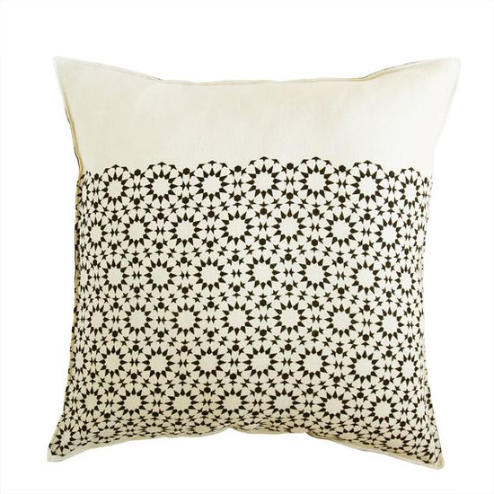 mosaic star linen pillow