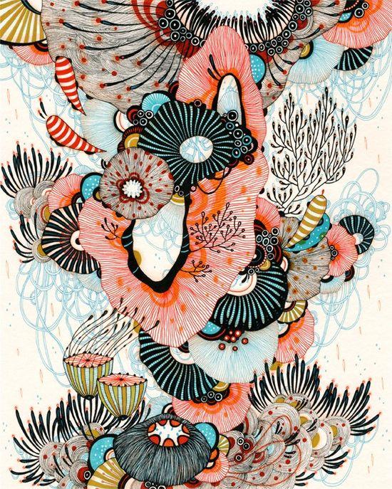 Giclee Fine Art Print  Watercrest  8x10 Print by yellena