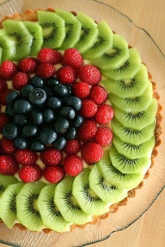 Fresh fruit tart with vanilla pastry cream
