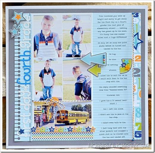First Day #gray #blue #journal #scrapbook #layout