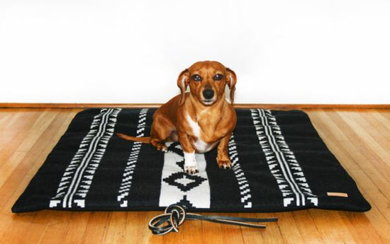 {Camp Mat - Travel Pet Bed} the doxie modeling the bed is pretty sweet, too! :)