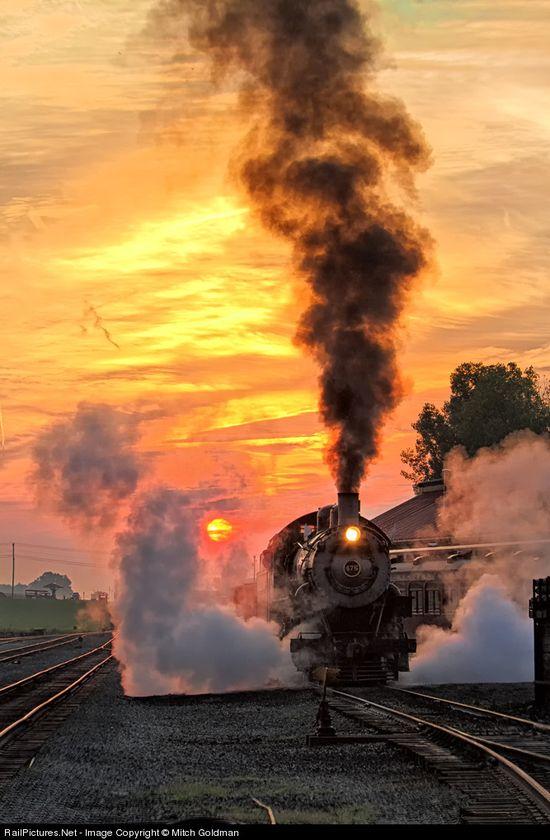 NW 475 Norfolk & Western Steam 4-8-0 at Strasburg, Pennsylvania by Mitch Goldman