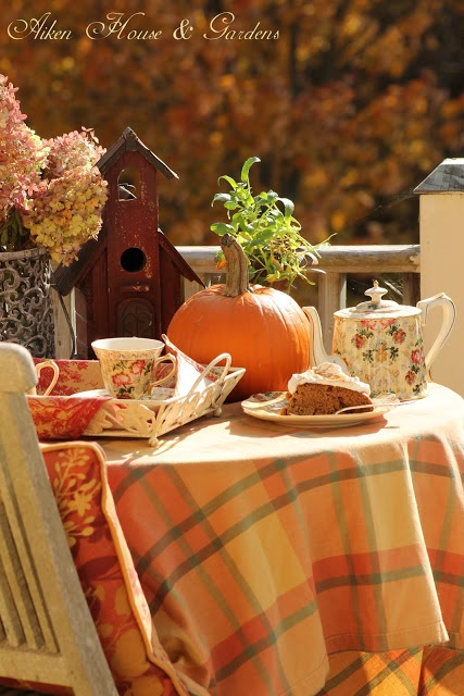 Balcony Autumn Tea