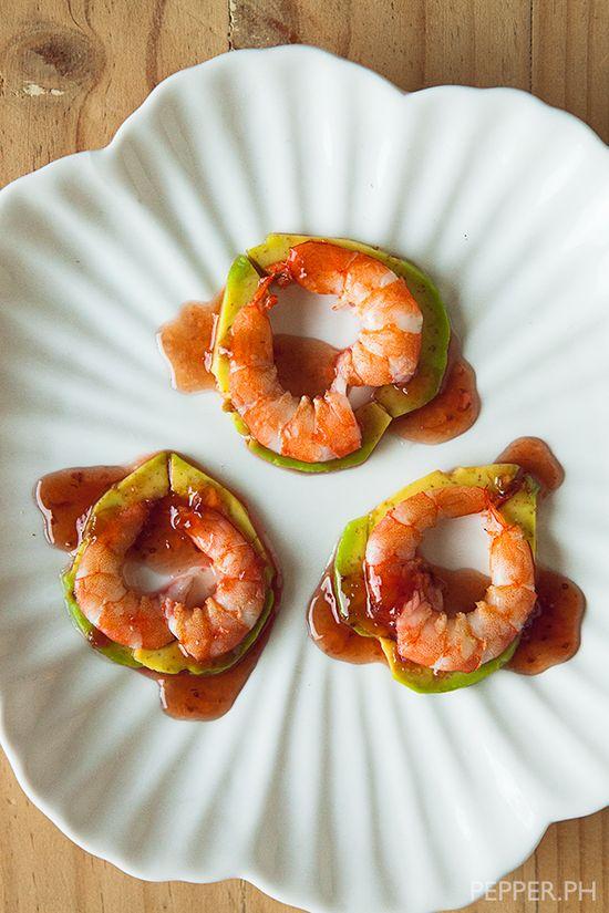 Spicy Shrimp with Avocado by pepper.ph #Appetizer #Shrimp #Avocado