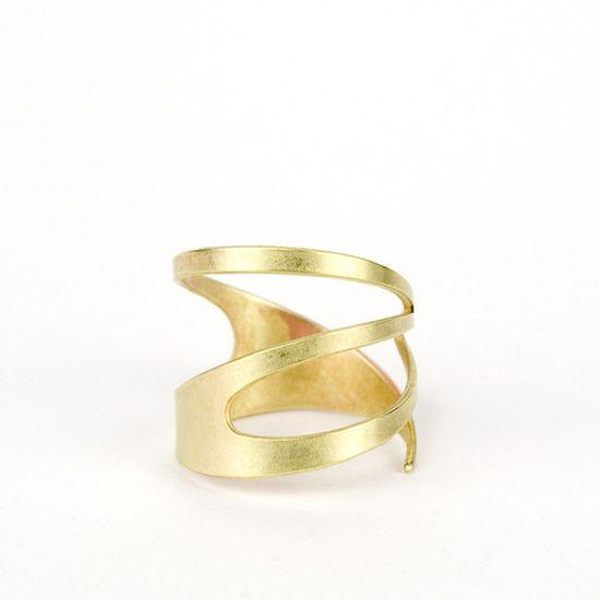 Gold Geometric Ring