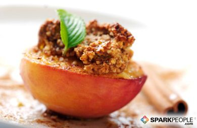 Broiled Cinnamon Peaches: Packed with flavor but not carbs, this dessert is sure to please!