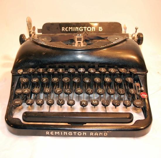 vintage Remington Rand 5 typewriter