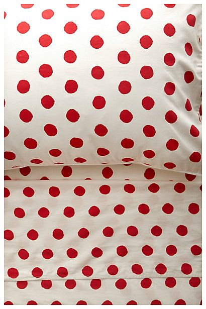 This Polka Dot Sheet Set is so whimsical #anthropologie #Anthrofave