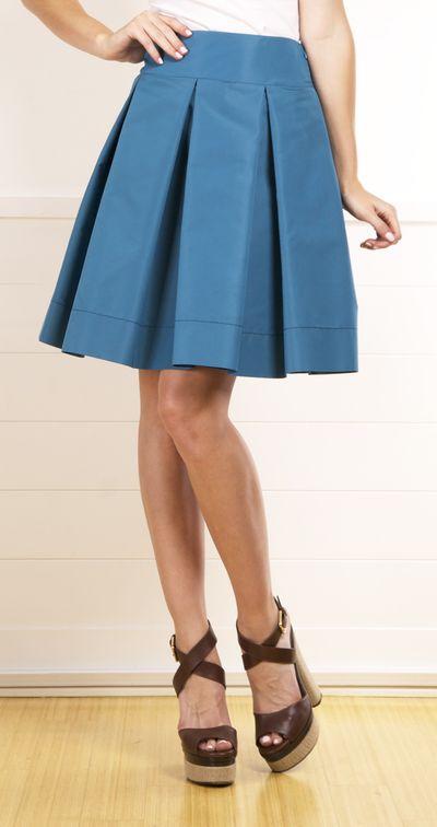 Prada Knee-Length Taffeta Skirt