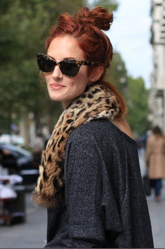 Taylor Tomasi Hill / tortoise cat eye frames / leopard