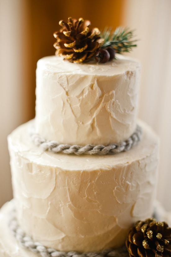 #Winter wedding pinecone cake... Wedding ideas for brides, grooms, parents & planners ... itunes.apple.com/... … plus how to organise an entire wedding ? The Gold Wedding Planner iPhone App ?