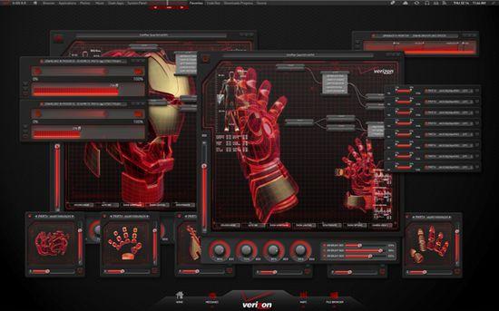 FiOS Ironman 3 - UI Design by Dade Orgeron, via Behance