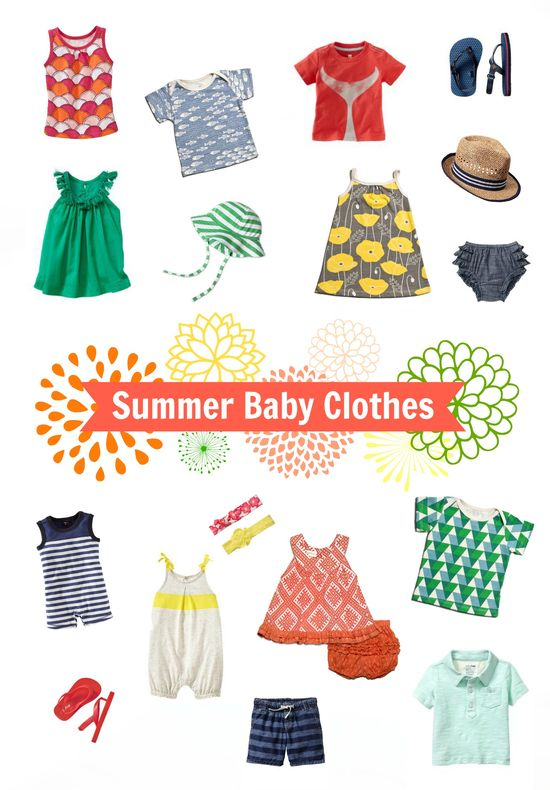 Colorful Summer Baby Clothes