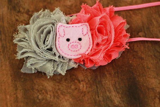 Baby Girl Piggie  Headband