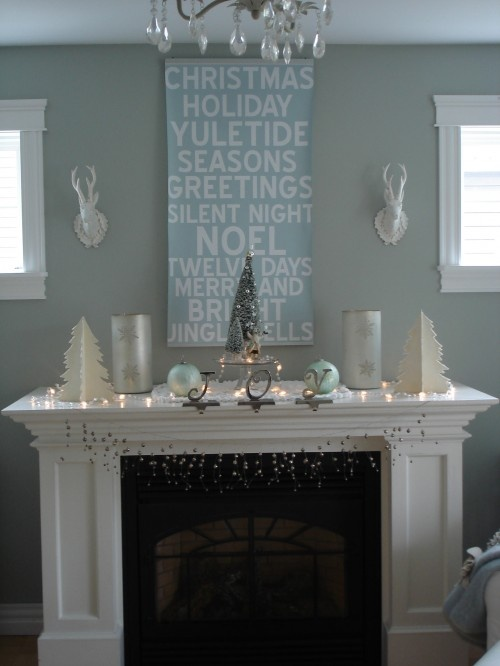 painted Christmas words