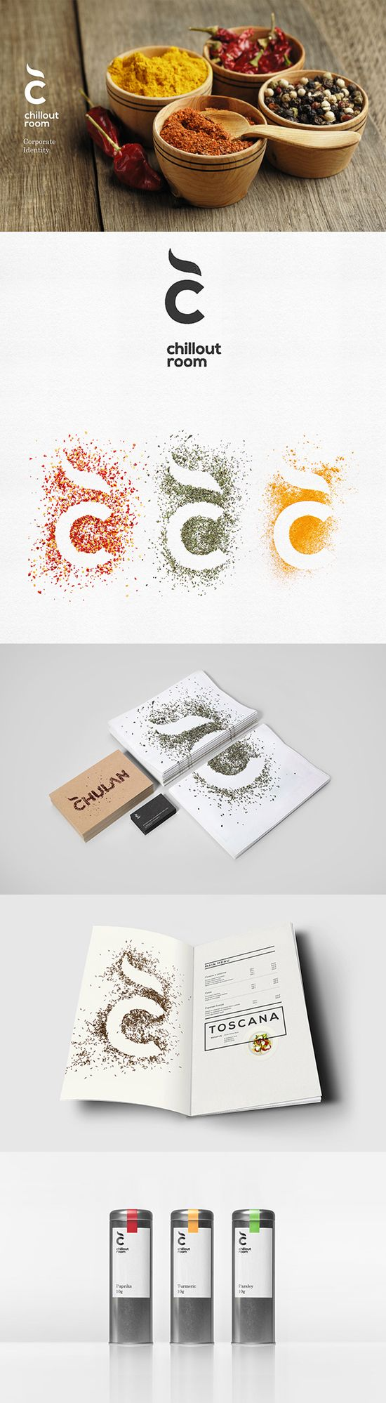 Chillout room spices #identity #packaging