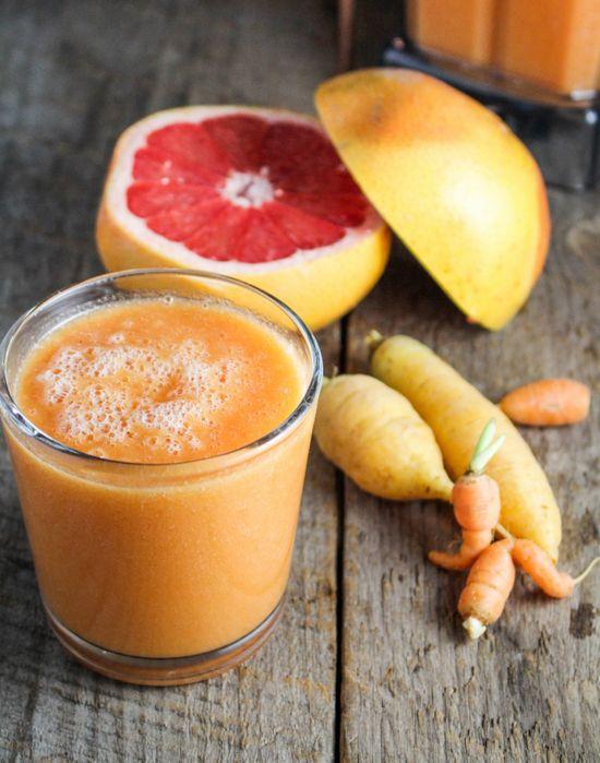 Carrot Grapefruit and Mango Smoothie
