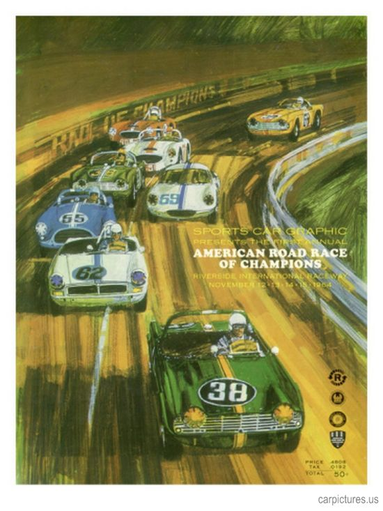 Vintage Sports Car Road Race Poster - Car Pictures