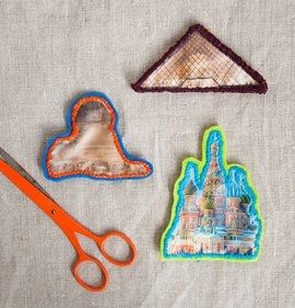 Sewn Souvenirs: DIY Landmark Patches from Your Travel Photos — Design*Sponge