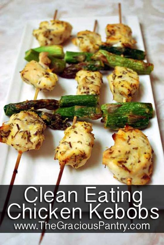 Clean Eating Chicken Kebobs