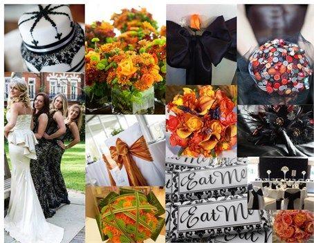 Black & Orange Halloween Themed Wedding Ideas #Halloween
