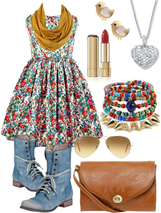 """""""Floral spring outfit !!!!"""" by helenleunghoran ❤ liked on Polyvore"""