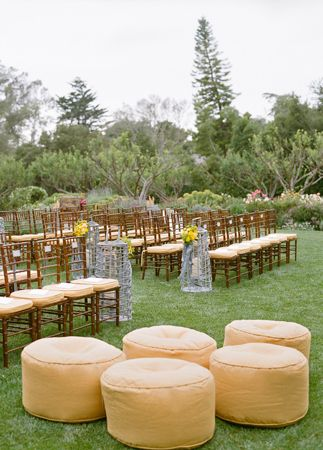 Outdoor Ceremony // Aaron Delesie Photographer // San Ysidro Ranch // Planning: Lisa Vorce at Oh, How Charming!